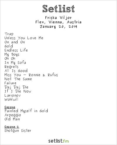 Friska Viljor Setlist Flex, Vienna, Austria 2019