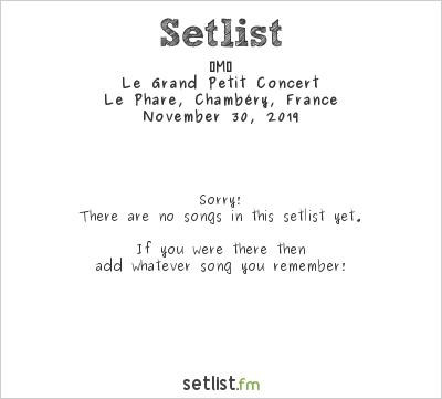‐M‐ Setlist Le Phare, Chambéry, France 2019, Le Grand Petit Concert