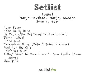 Foghat Setlist Sweden Rock Festival 2014 2014