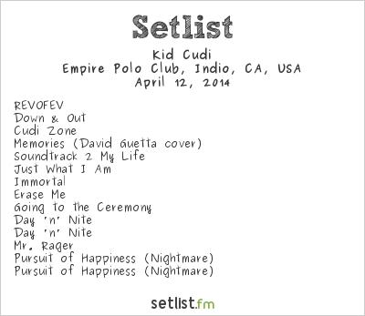 Kid Cudi Setlist Coachella Festival 2014 2014
