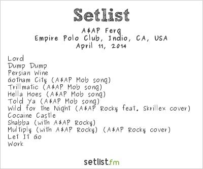 ASAP Ferg Setlist Coachella Festival 2014 2014