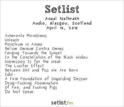 Anaal Nathrakh Setlist Audio, Glasgow, Scotland 2015