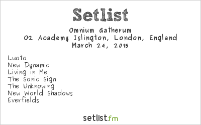 Omnium Gatherum Setlist O2 Academy Islington, London, England 2015