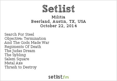 Militia Setlist Beerland, Austin, TX, USA 2014