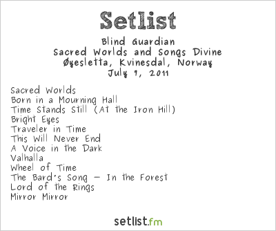 Blind Guardian at Norway Rock Festival 2011 Setlist