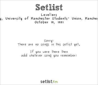Levellers Setlist Club Academy, University of Manchester Students' Union, Manchester, England 1991