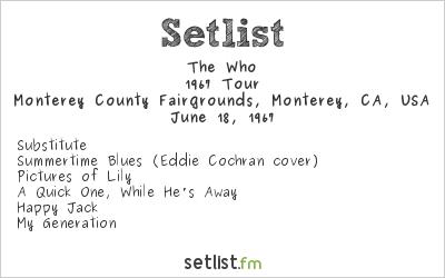 The Who Setlist Monterey Pop Festival 1967 1967, 1967 Tour