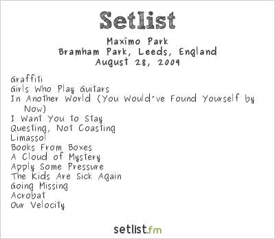 Maxïmo Park Setlist Leeds Festival, Leeds, England 2009