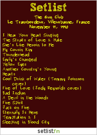 The Gun Club Setlist Transbordeur Club, Lyon, France 1990