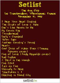 The Gun Club Setlist Transbordeur Club, Lyon, France 1990