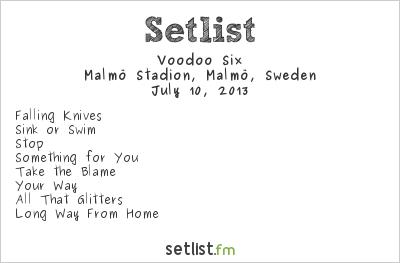 Voodoo Six Setlist Malmö Stadion, Malmö, Sweden, Maiden England - European Tour 2013