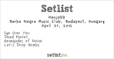Haujobb Setlist Industrial Booom - Reboot 2012 2012