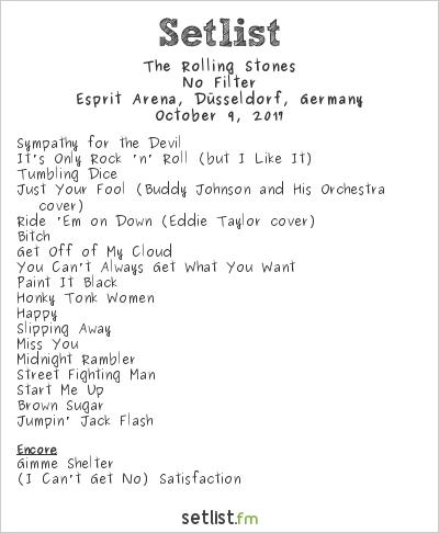 The Rolling Stones at Esprit Arena, Düsseldorf, Germany Setlist