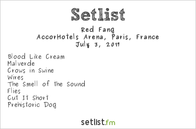 Red Fang Setlist AccorHotels Arena, Paris, France 2017