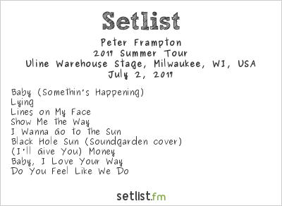Peter Frampton Setlist Summerfest 2017, Steve Miller Band & Peter Frampton Live 2017