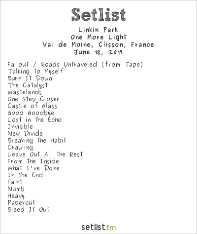 Linkin Park Setlist Hellfest 2017 2017, One More Light