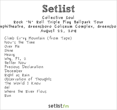 Collective Soul Setlist White Oak Amphitheatre, Greensboro Coliseum Complex, Greensboro, NC, USA 2018, Rock & Roll Express