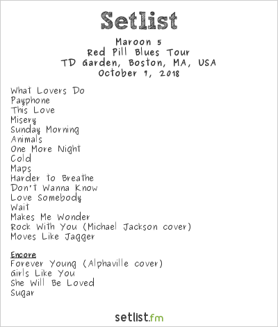 College Media Network Live: Maroon 5 in Boston October 7, 2018