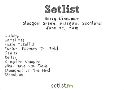 Gerry Cinnamon Setlist TRNSMT Festival 2018 2018