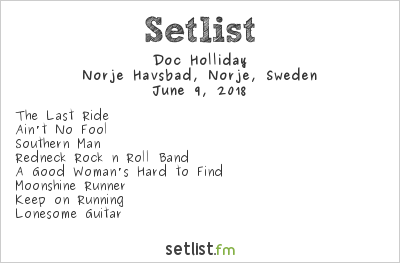 Doc Holliday Setlist Sweden Rock Festival 2018 2018