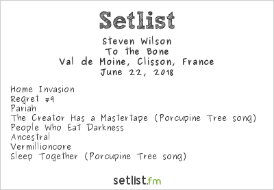 Steven Wilson Setlist Hellfest 2018 2018, To the Bone
