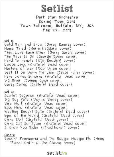 Dark Star Orchestra Setlist Town Ballroom, Buffalo, NY, USA, Spring Tour 2018