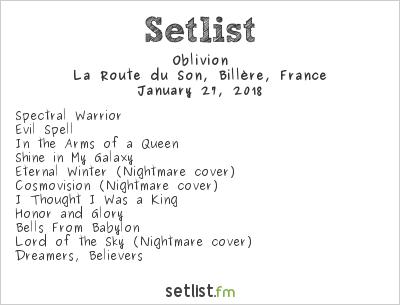 Oblivion Setlist Ampli/La Route du son, Billère, France 2018