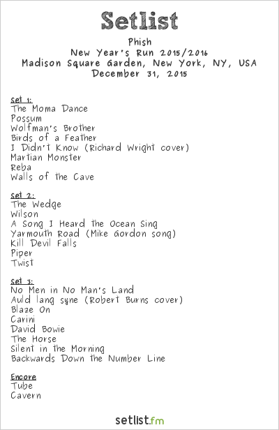 Phish setlist madison square garden new york ny usa - Phish madison square garden tickets ...