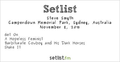 Steve Smyth Setlist Camperdown Memorial Park, Sydney, Australia 2015