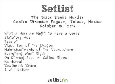 The Black Dahlia Murder Setlist Knotfest México 2016 2016