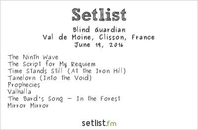 Blind Guardian Setlist Hellfest 2016 2016
