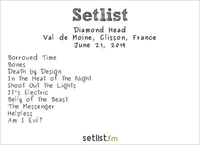 Diamond Head Setlist Hellfest 2019 2019