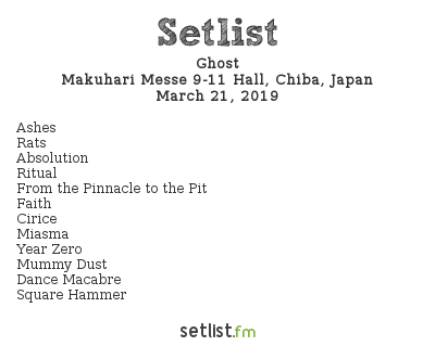 Ghost Setlist Download Japan 2019 2019, A Pale Tour Named Death