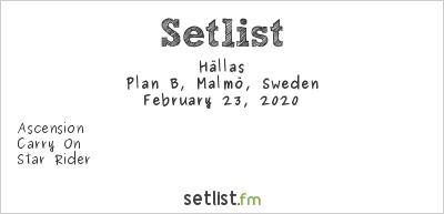 Hällas Setlist Plan B, Malmö, Sweden 2020