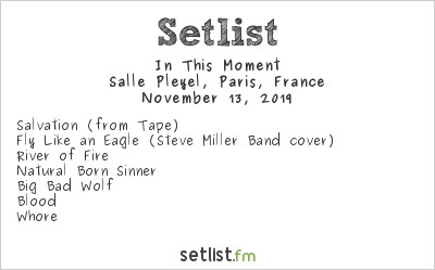 In This Moment Setlist Salle Pleyel, Paris, France 2019, Mother's House Of Horrors