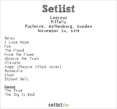 Leprous Setlist Pustervik, Gothenburg, Sweden 2019, Pitfalls