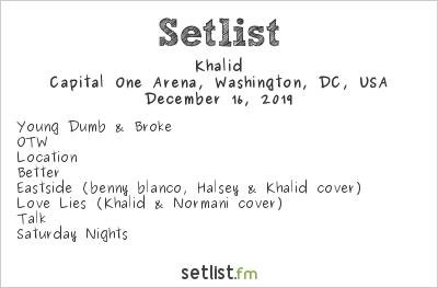Khalid at HOT 99.5's Jingle Ball 2019 Setlist