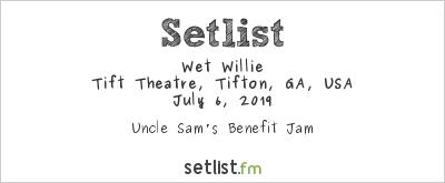 Wet Willie at Tift Theater, Tifton, GA, USA Setlist