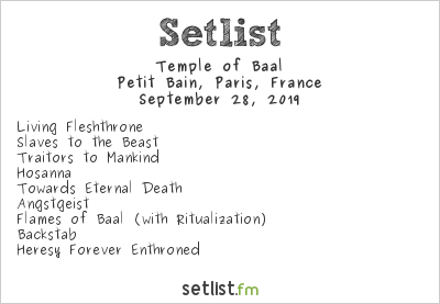 Temple of Baal Setlist Petit Bain, Paris, France 2019