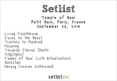 Temple of Baal Setlist Petit Bain, Paris, France 2019