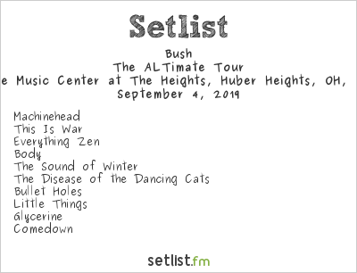 Bush Setlist Rose Music Center at The Heights, Huber Heights, OH, USA 2019, The ALTimate Tour