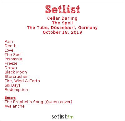 Cellar Darling Setlist The Tube, Düsseldorf, Germany 2019, The Spell