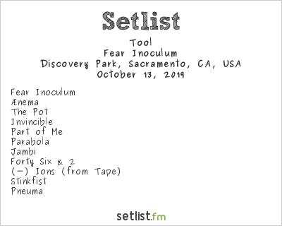 Tool Setlist Aftershock 2019 2019, Fear Inoculum