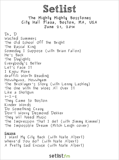 The Mighty Mighty Bosstones Setlist Phantom Gourmet BBQ & Music Festival 2014 2014
