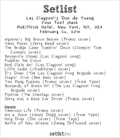 Les Claypool's Duo de Twang Setlist McKittrick Hotel, New York, NY, USA 2014