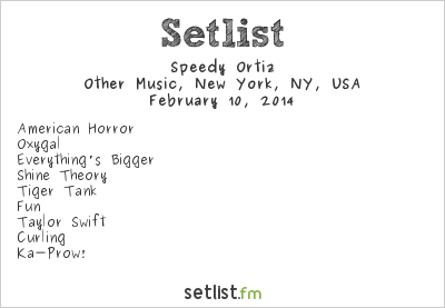 Speedy Ortiz Setlist Other Music, New York, NY, USA 2014