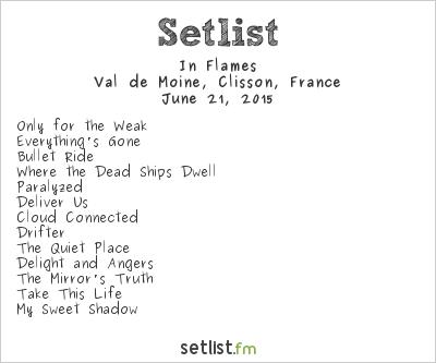 In Flames Setlist Hellfest 2015 2015