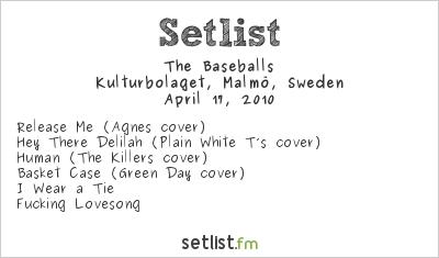 The Baseballs Setlist Kulturbolaget, Malmö, Sweden 2010