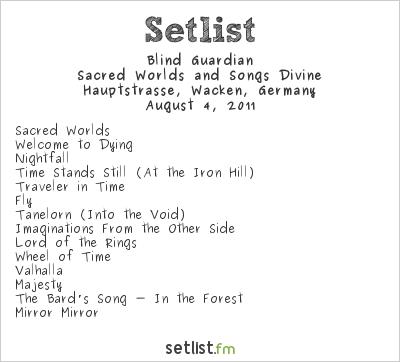 Blind Guardian at Wacken Open Air 2011 Setlist
