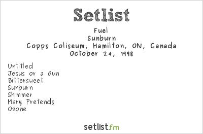 Fuel Setlist Copps Coliseum, Hamilton, ON, Canada 1998, Nine Lives Tour